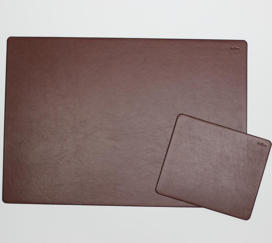 schreibtischunterlage leder mit mousepad braun vera. Black Bedroom Furniture Sets. Home Design Ideas
