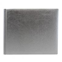 Gästebuch silber quer aus Kunstleder